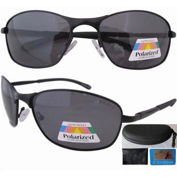 Free shipping 12078 Polarised Glasses Metal Frame Spring Hinge Polarized Lens Sport Sunglasses