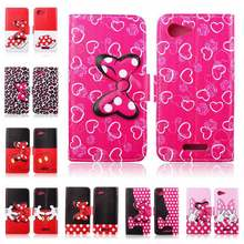 Cute Cartoons Pu Leather Wallet Flip Case Cover For Sony Xperia E3 Mobile Phone Accessories 8 Styles Free shipping