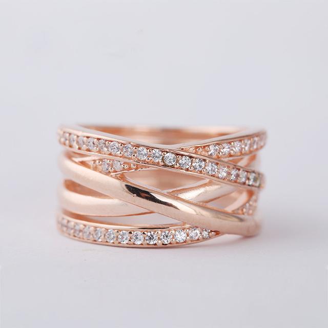 Розового золота галактика кольцо асфальтовая CZ оригинал 925 кольцо для женщин DIY мода аксессуары и украшения оптовая продажа