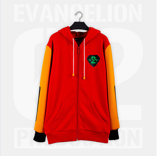 EVA02 PRODUCTION Cosplay Costume Unisex Winter Spring Red&amp;Orange Cotton Long Slevees Hooded Daily Wear Hoodies Free ShippingОдежда и ак�е��уары<br><br><br>Aliexpress