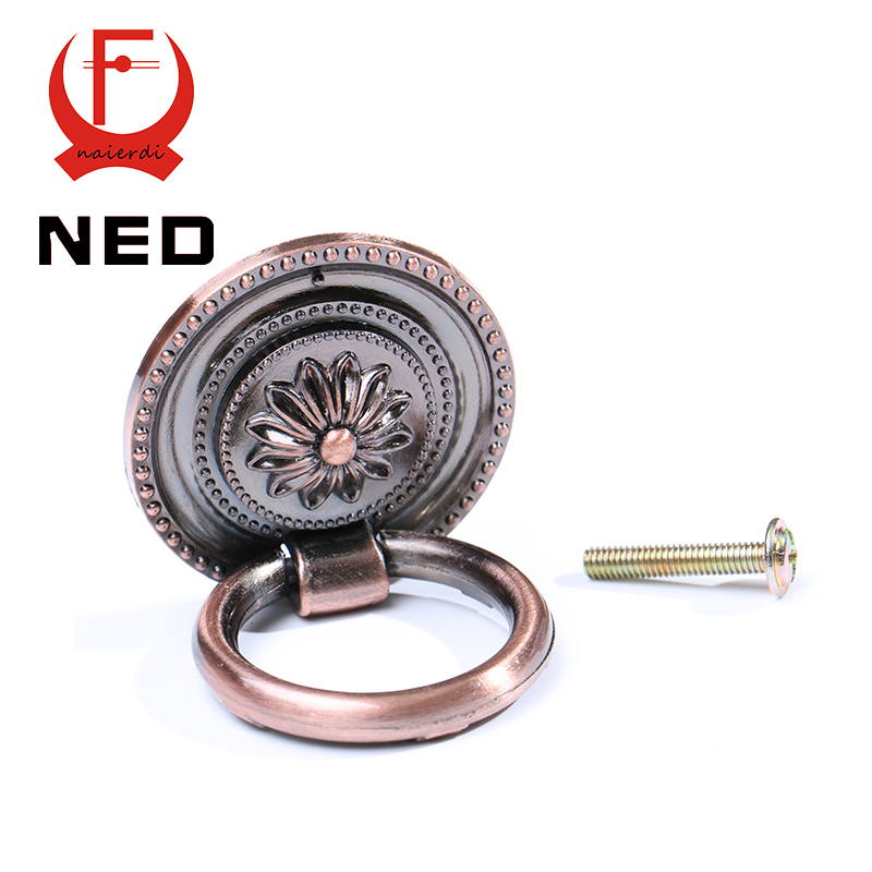 NED-RB1013 Small Retro Red Bronze Kitchen Cabinet Knobs Door Cupboard Zinc Alloy Handles Wardrobe Furniture Handle Drawer Pulls<br><br>Aliexpress
