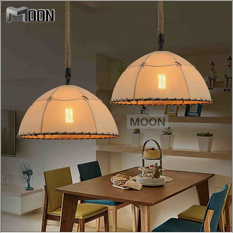 Здесь можно купить  American style pendant light fixture Modern Flax suspension light peculiar hanging light fixture pendant Lamp vintage drop light  Свет и освещение