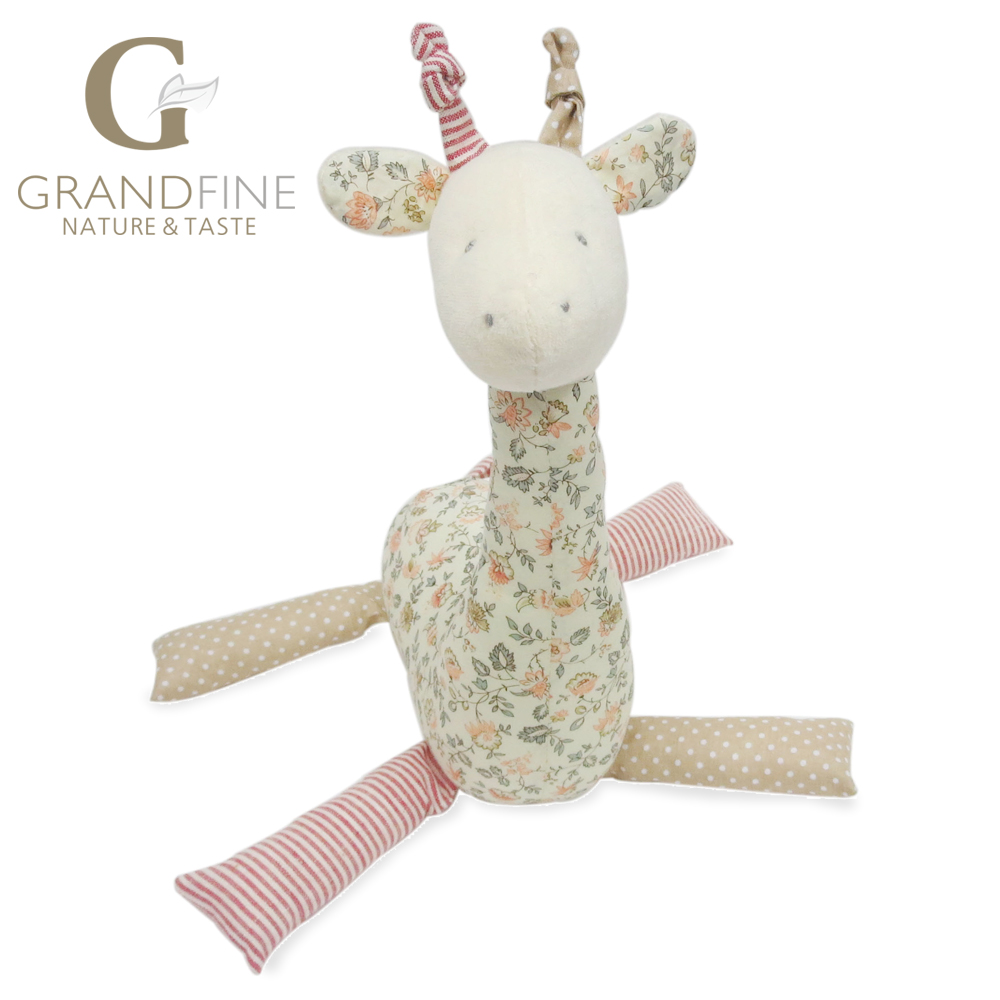 21cm cute pink stuffed giraffe doll,100% cotton knit Eco material, plush toys for kid&babies(China (Mainland))