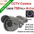 DONPHIA Hot promotion 700tvl CMOS 30 leds IR Outdoor indoor CCTV Bullet Camera Security camera IRCut