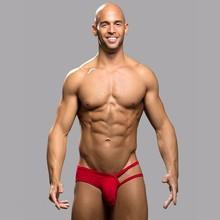 2016 New men's underwear briefs fashion sexy briefs underwear gay men Open Sexy Pouch Men Jock Briefs Pure Cool design cotton