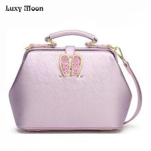 Cute Pink Handbag Women Doctor Bags Pu Leather fashion Totes Bling Bling Rabbit Ear Shell Bag Handbag 2016 Crossbody bag W789(China (Mainland))
