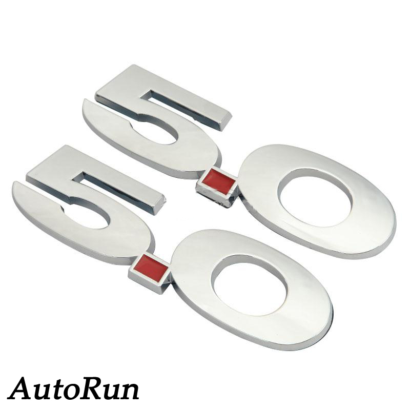 2x Chrome White 3D 5.0 Fender Emblem Badge Fade-proof For Ford Mustang GT SALE(China (Mainland))