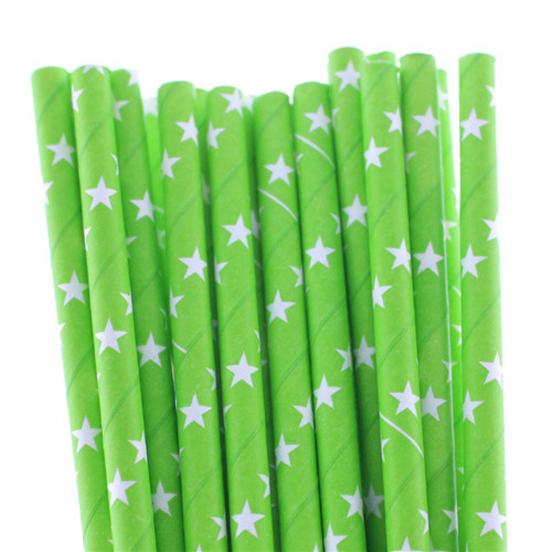 Christmas dessert decoration/color green paper straw for birthday party/wedding party / 25 multicolor(China (Mainland))