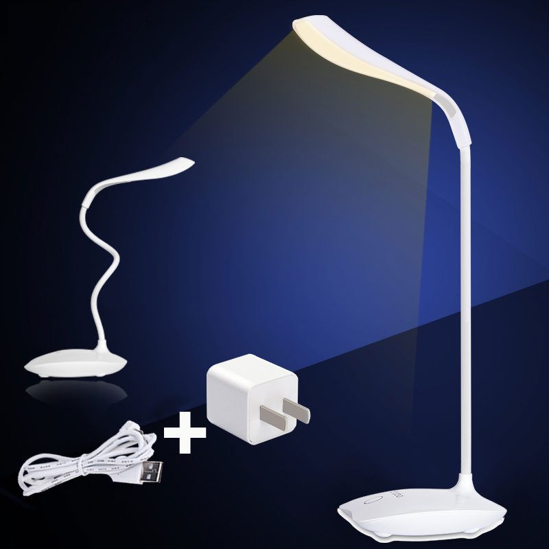 16 LED Bulbs Table Desk Lamp Led Night Light Luminary Abajour Battery Table Lamps Have White & Yellow Light Touch Switch Hot(China (Mainland))