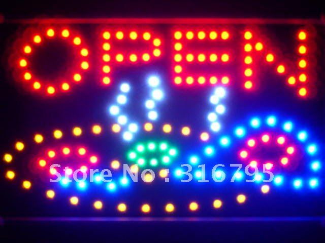 led141-r Pizza Shop OPEN Cafe Led Neon Sign WhiteBoard<br><br>Aliexpress