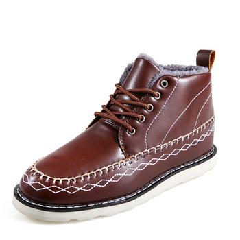 2015 англия ретро мужчины зима мода снегоступы мужчин свободного покроя кожи теплые мужской обуви уличной туфли-botas обувь для мужчин Большой размер ZX0015