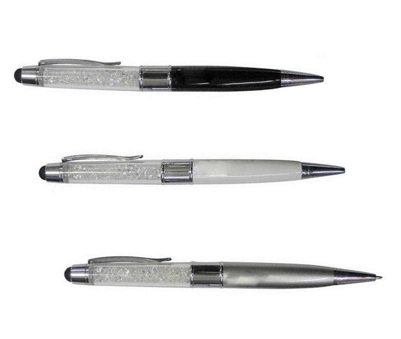 Pendrive 128GB USB Flash 2.0 Memory Stick crystal ballpoint pen usb flash drive 4g 8g16g 64g thumb u disk storage devices 16 gb