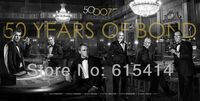 """R52 James Bond 007 Skyfall - 50 Years Of James Bond Anniversary 47""""x24"""" inch wall Poster with Tracking Number"""
