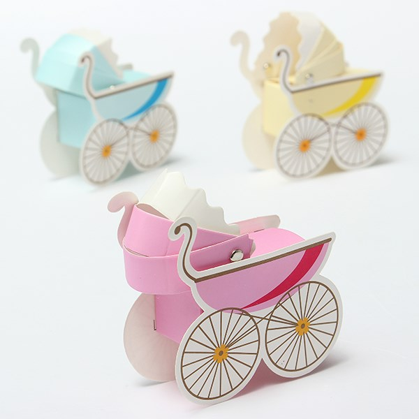 Wedding Candy Box Stroller Shape Party Wedding Baby Shower Favor Paper Gift Boxes Event & Party Supplies(China (Mainland))