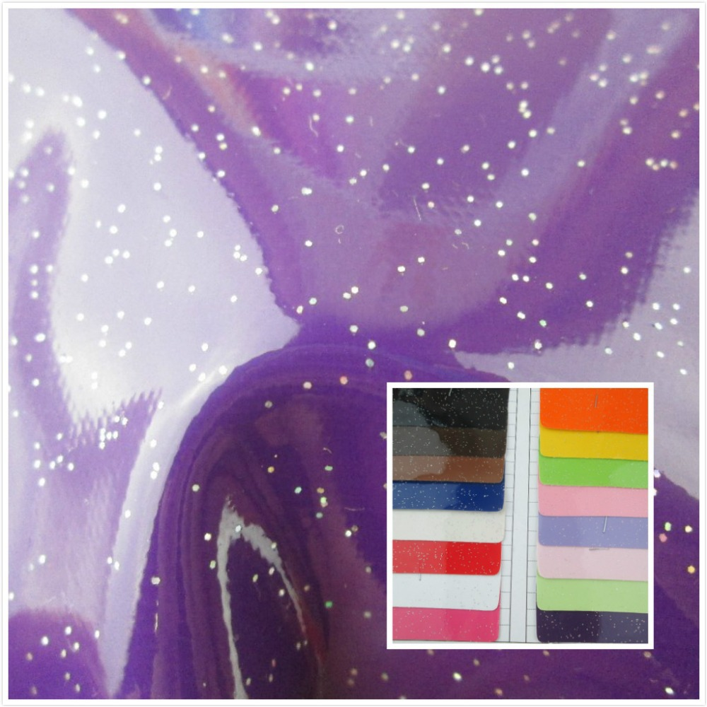 New! Mirror glitter PVC synthetic leather fabric 16 color Smooth surface Suitable for decorative bag couro cloth(China (Mainland))