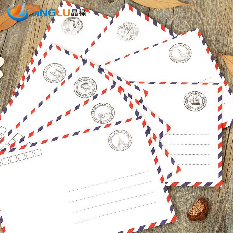 Гаджет  Airmail Envelopes White 8 Pattern Creative Novel And Lovely Stationery Envelopes/Romantic Style/Gift # Zakka None Офисные и Школьные принадлежности