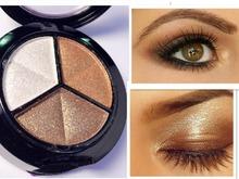 Dropshipping 3 couleurs mélangées femmes Comestic fard à paupières longue durée maquillage ombre à paupières livraison gratuite(China (Mainland))