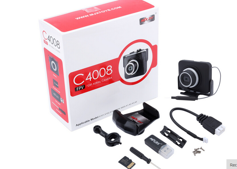 MJX X101 C4008 FPV 720P real time aerial camera camera 0.3MP for X101/X102/X103/X104/A1/A2/A3/A4 free shipping