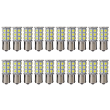 2015 New 20psc/lot 1156 Car White 5050 SMD 27 LED Tail Brake Stop Signal Light Bulb 12V MA239
