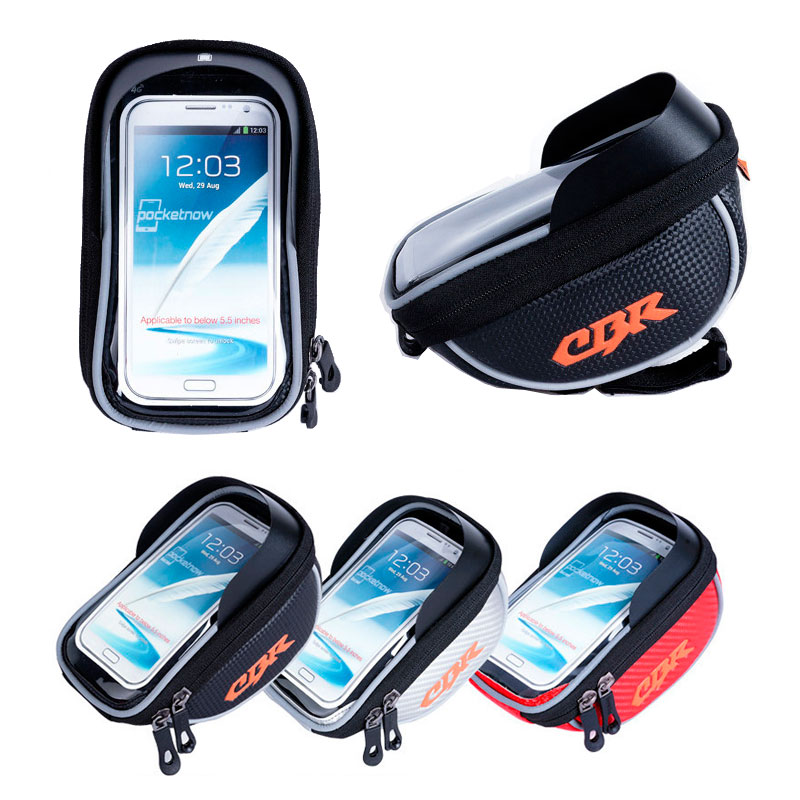 2015 New Outdoor Waterproof MTB Bike Cycling Bicycle Frame Front Tube Bag Bike Package Bags Handlebar Bag for 5.5 inch Phone(China (Mainland))
