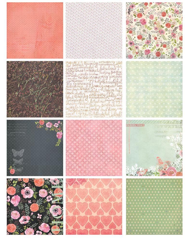 Scrapbook paper pads - New 6 Home Flowers Sweet Heart Handmade Background Paper Pads Patterns 26sheets Diy Scrapbooking Paper Pack Paper Craft