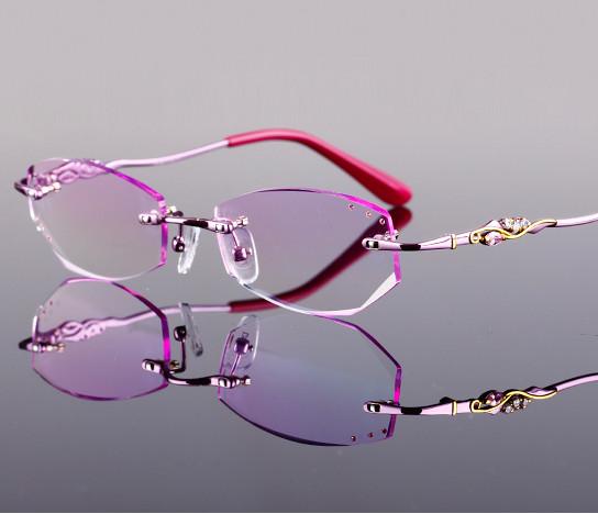 quality Vintage Women rimless frameless eyeglasses frame,graded color optical lenses optional,6 colorsОдежда и ак�е��уары<br><br><br>Aliexpress