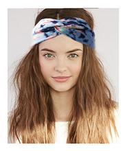 1 Piece Printing Elastic Cotton Stretch  Headbands Hairband Women Headwrap Wreath Bandage On Head(China (Mainland))