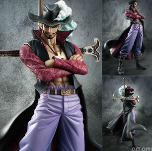 Anime One Piece POP Dracule Mihawk PVC Action Figure Collection Model Toy 22CM D57
