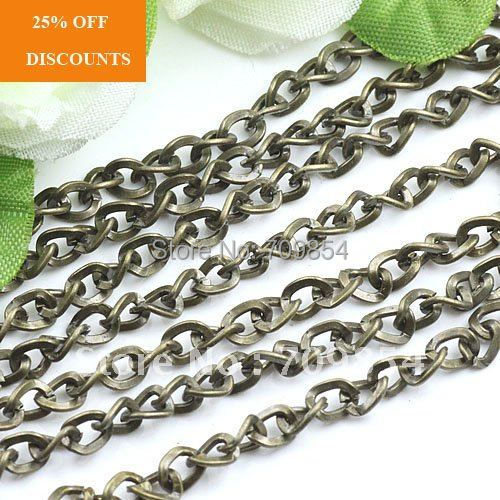 Free Ship!!!50meter/lot/ bronze tone plated round cable necklace chain 4*5mm(China (Mainland))