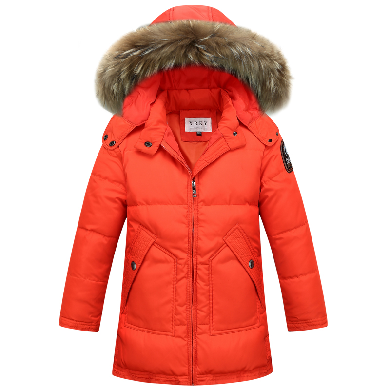 Children NEW 2017 winter thick Duck Down Girls long sections down jacket Girl down jacket for -25 Cold Winter Boys Coat