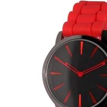 Newly Design Red Jelly Band Unisex Watches Men Women Quartz Watch June25 ZQ