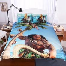 BeddingOutlet Moana Bedding Set Ocean Cartoon Children Kids Bedclothes Demigod Maui Printed Movie Themed Duvet Cover Multi Size(China (Mainland))