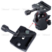 Clamp for Manfrotto 490 494 496 498 054 055 057, 200PL 410PL, RRS BH55 BH40 BH30 BH25, Arca Fit Ball Head Quick Release Plate