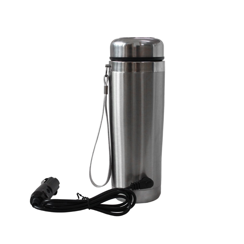 Car electric cup car heating cup double stainless steel vacuum insulation cup car with an electromagnetic hot water kettle(China (Mainland))