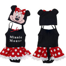 Newborn Baby Swimsuits Summer Cute Micky Minnie Mouse Print Girl Bathing Suit Infant Swimwear