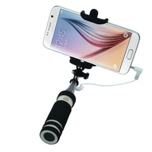 Brand New  Mini 2015 Nova Extensivel Self Selfie Stick Monopod Cable Holder for iPhone Android smartphone Self Portrait Stick