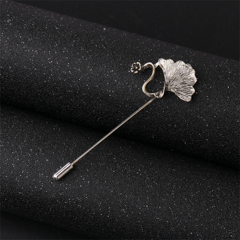 Hot Sale Business Casual Silver Color Retro Apricot Leaf Brooch for Wedding Party Fashion Boutique Alloy Lapel Pin Brooches(China (Mainland))