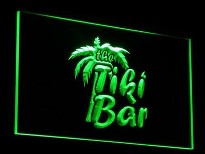 j008-g OPEN Tiki Bar Displays Club Bar LED Neon Light SignWholesale Dropshipping On/ Off Switch 7 colors DHL(China (Mainland))