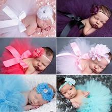 Newborn Tutu Skirt Baby Pettiskirt Tutu with Matching Headband Newborn Photography Prop Shower Gift 5sets TS001(China (Mainland))