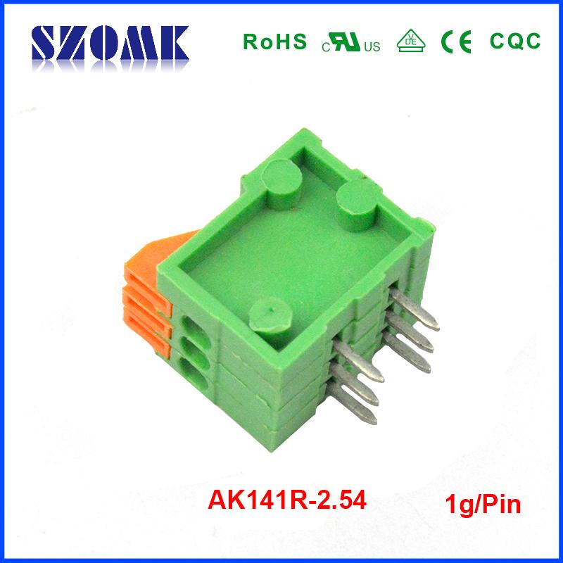 50 pcs/lot car battery terminal Spring terminal block 2.54mm-3poles(China (Mainland))
