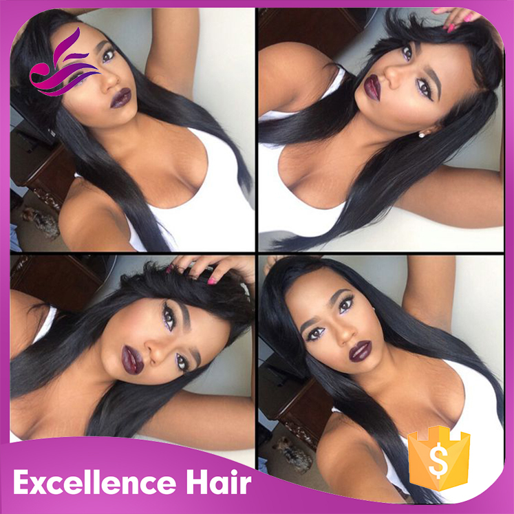 2015 Top quality Silky Straight Lace Wigs Brazilian Virgin Human Hair Lace Front Wigs in Stock For black Women Free shipping<br><br>Aliexpress