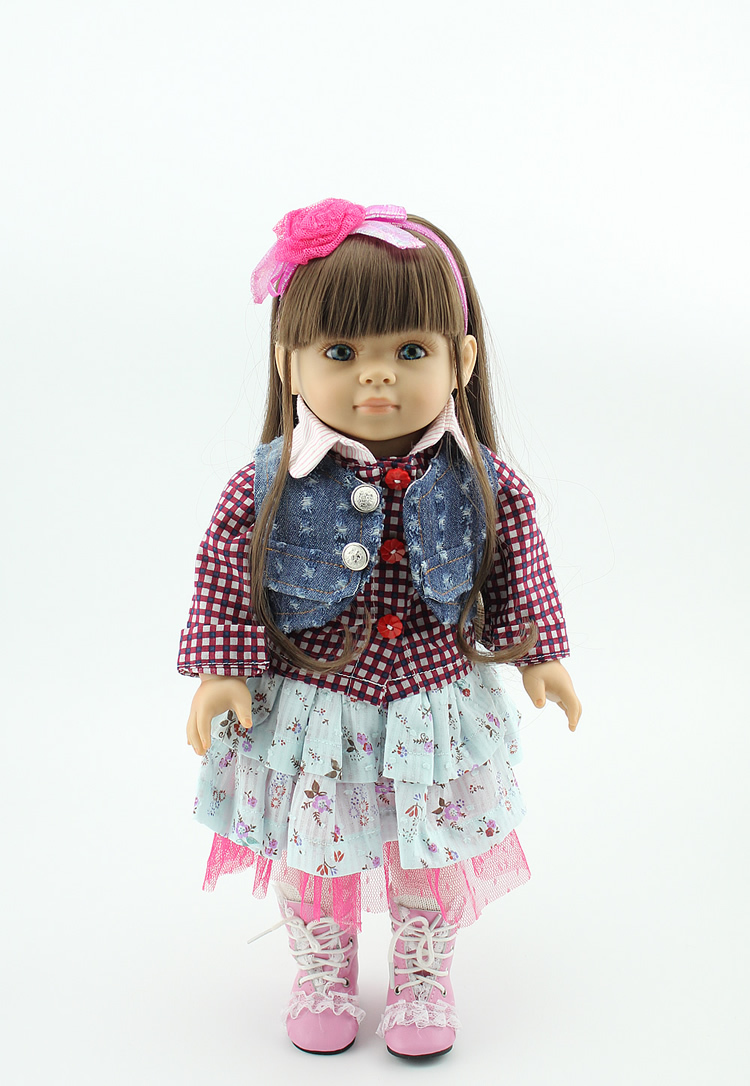 Free Shipping New Arrived 2015 Fashion Style Popular American Girl Doll Clothes Lovely Flower