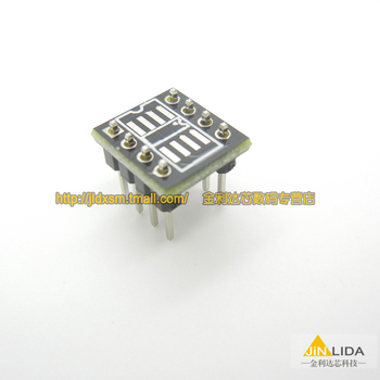 SMD test board DIP switch test socket SOP DIP op amp transfer switch DIP8 SOP8 converter board seat thickened --10PCS/LOT