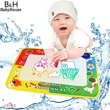 45 x 29cm Aqua Doodle Water Drawing Toys Mat Baby Play Educational Toy Water Drawing Board with 1 Magic Pen 67(China (Mainland))