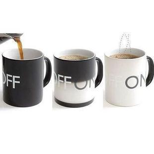Glacier ON OFF Color Changing Mug Magical Chameleon Coffee Cup Temperature Sensing ON OFF mugs(China (Mainland))