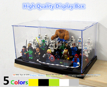 Clear Plastic Original Building Blocks Minifigures Show Case Ladder Acrylic Collection Parts Compatible with lego Display Box(China (Mainland))