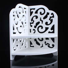 1Pcs White Baroque Small Corner Bath Den Shelf
