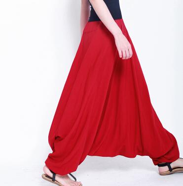 2016 мода женщин Большой размер кросс-брюки, Новинка танцы спортивные штаны, Шаровары, ...