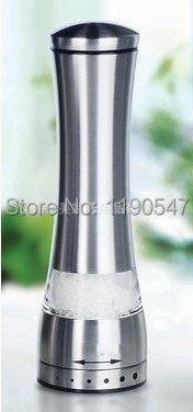 1 Piece Only, 2014 Brand New , Manual Rotatory Stainless Steel Salt and Pepper Mill Grinder For Cooking Kitchen(China (Mainland))