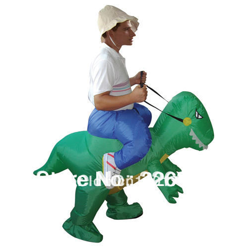 Inflatable dinosaur costume Halloween party fancy costume animal costume for adults(China (Mainland))